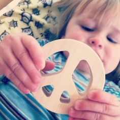 Handmade wooden teething toys from Little Alouette - you can even get a toy of the month subscription. Awesome baby gift!