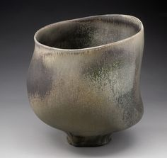 Chris Gustin, Vessel with Belly, #1111, Stoneware, Anagama Wood Fired