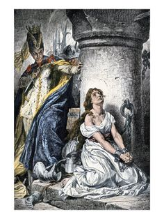 Joan of Arc Imprisoned for Heresy and Witchcraft after Driving the English from Orleans.