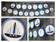 Sailboat & Nautical Birthday, Blues and Greys