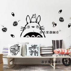 totoro sticker totoro japanse cartoon muurstickers sticker wand decor home decoration totoro sticker in  product details      Merken: kleuropties voor maten, 22 kleuren beschikbaar, van muurstickers op AliExpress.com | Alibaba Groep