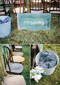 Rustic wedding ceremony ideas @wedding chicks
