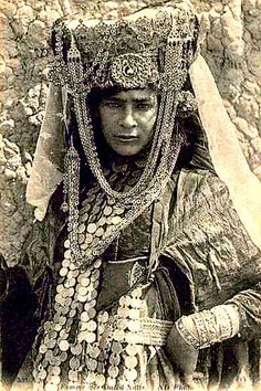 Algeria c 1920s, Postcard, Bedecked Ouled-Naïl Woman