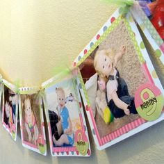 Photo Birthday Party Banner for 1st birthday