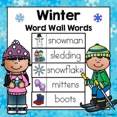 Summer word wall words free kinderland collaborative winter word wall words freebie preschool sciox Gallery