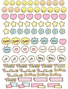 free stickers  Pink Cutesy Flakes