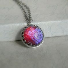 Dragons Breath Necklace Festive Silver Dragons by pink80sgirl, $28.00