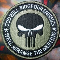 Special Forces Black Punisher Seal ODA Navy Patch(khaki) inches Embroidery Sew on Iron on 4 inches Military Humor, Military Life, Military Quotes, Biker Quotes, Velcro Patches, Iron On Patches, Special Ops, Special Forces, Airsoft
