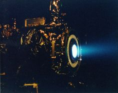 Improved ion engines will open up the outer Solar System By Brian Dodson  March 6, 2013  An ion engine test for Deep Space One (Photo: NASA/JPL)  these engines have been used in space missions for more than four decades and remain the subject of ongoing research. Ion engines have incredible fuel efficiency, but their low thrust requires very long operating times