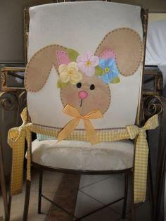 Capa de cadeira Páscoa