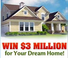 Publishers Clearing House PCH 3 Million Dream Home Sweepstakes Instant Win Sweepstakes, Online Sweepstakes, Wedding Sweepstakes, Travel Sweepstakes, Win Online, Dream Life, My Dream, Dream Cars, Live Life