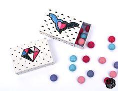 Cajitas imprimibles // Les Matchboxes à broder (ou à colorier) free printable - Sanglota.com