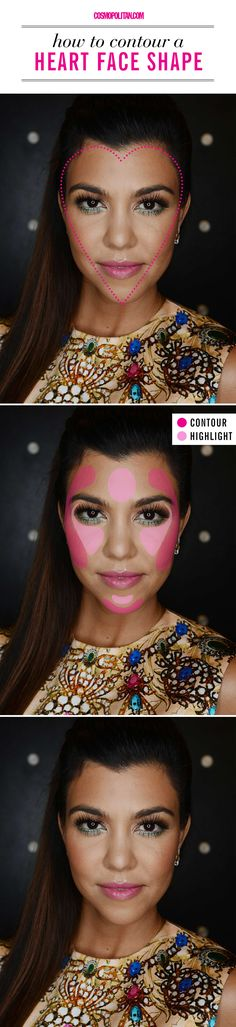 How to contour if you have a heart face shape.
