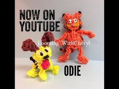 Rainbow Loom Odie the Dog from Garfield - charms / figures / gomitas / gomas. Please Subscribe ❤️❤ m.youtube.com/user/LoomingWithCheryl