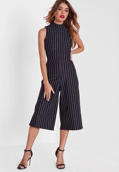 48e5a8cbd59c Get a simple and affective style fix with this easy wear culotte jumpsuit.  Featuring a