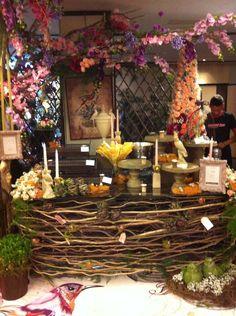 Decoração de uma mesa do  Evento Degustar em Fortaleza