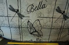 Bella scripted with butterfly in natural made by SewSheriDesigns, $21.00 #fabric