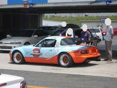 Mazda Miata.  Gulf Livery