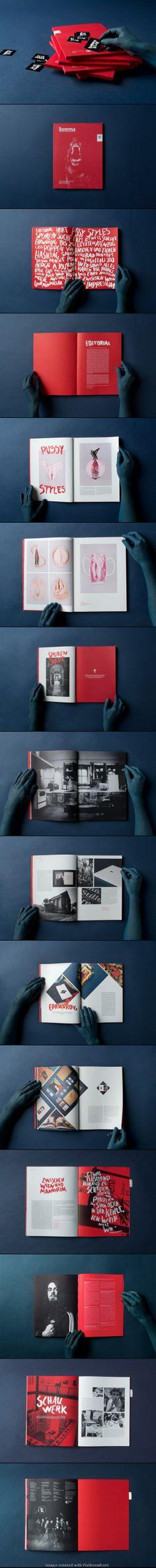 Komma 13 - Design with a little illustration. Very well designed. Layout Design, Design De Configuration, Print Layout, Web Design, Magazine Design, Graphic Design Magazine, Editorial Design, Editorial Layout, Layout Inspiration