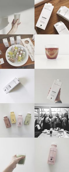 Corporate identity, branding and art direction for London's first almond milk…