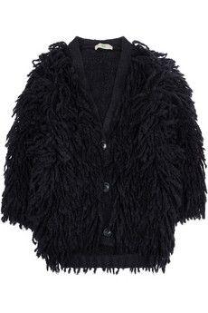 Stella McCartney|Fringed chunky-knit wool-blend cardigan|NET-A-PORTER.COM - StyleSays