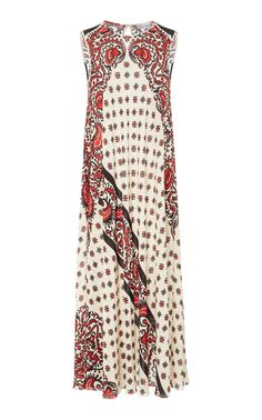 RED VALENTINO RED VALENTINO BANDANA SILK PRINT DRESS.  redvalentino  cloth    Vestito Sciarpa b76fe8c839d