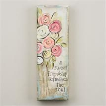 Sweet Friendship Canvas – The Grapevine Boutique Tole Painting, Diy Painting, Painting On Wood, Painting & Drawing, Friendship Canvas, Friendship Quotes, Small Art, Painting Inspiration, Wood Art