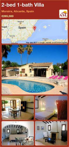 2-bed 1-bath Villa in Moraira, Alicante, Spain ►€265,000 #PropertyForSaleInSpain