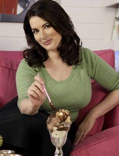 ... Nigella Lawson, perfectly proportioned domestic goddess.
