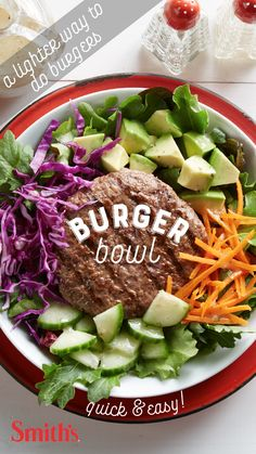 A lighter way to get your burger fix this summer! These bowls are quick to put together and Whole30 approved! Get all the ingredients this summer at Smith's.