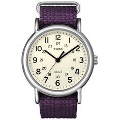 Ρολόγια : Ρολόι Timex Weekend Slip Through Purple Fabric Strap