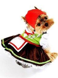 Pets Fancy Dress Apparel Alpine Girl Dog Clothes Costume