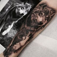 wolf tattoos we've seen and maybe you'll find your inspiration Wolf Tattoos, Animal Tattoos, Body Art Tattoos, New Tattoos, Girl Tattoos, Tattoos For Guys, Tatoos, Tatuajes Tattoos, Wolf Sleeve