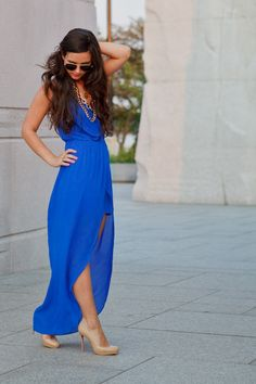 Chiffon Wrap Dress.