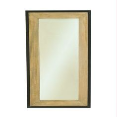 Miroir rectangulaire en bois et fer LINA - Maison Facile : ww.maison-facile.com