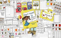Jam Packed Post: What's New, Short u Phonics Based Literacy Centers,