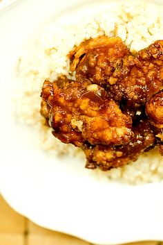General Tso's Chicken - made from scratch at home. Love homemade take out favorites!