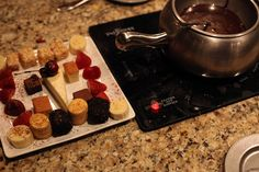 Chocolate Fondue from The Melting Pot.  Cheese fondue = good.  Meat fondue = good.  Dessert fondue = amazing!  Bite sized desserts dipped in dark chocolate s'more fondue?  Yes please.