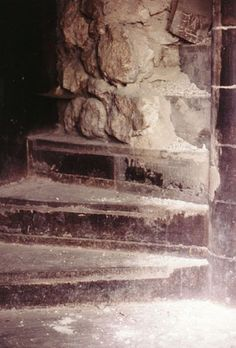 Staircase in Tower of London where the bones of two children were found buried at the bottom of stairs, consistent with the Princes
