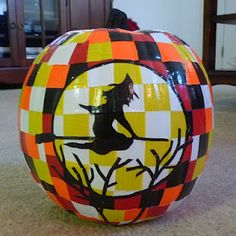 Duct Tape Pumpkin {two oh two seven} #ducktape #craft