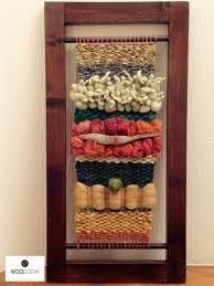 Hello, old cabinet doors, duh! Earth tone - Colores de la tierra - Hand woven wall hanging // weaving // telar decorativo made by WooL LooM Weaving Wall Hanging, Weaving Art, Tapestry Weaving, Loom Weaving, Tapestry Wall Hanging, Hand Weaving, Fibre And Fabric, Weaving Projects, Fabric Strips