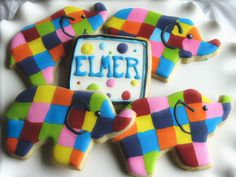 Elmer the Elephant !! My daughter loves this book!
