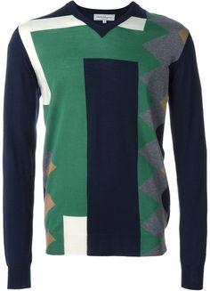 Salvatore Ferragamo colour block intarsia jumper - 7112style.website -