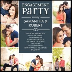 Celebrate Your Love:Slate engagement party invite
