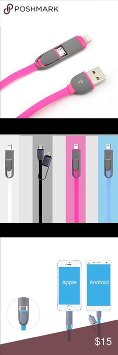Plastic Double Deck USB Design Charger Fast 2 way charger.  Fits Iphone 6/6s, Iphone 6 Plus/ 6s Plus, Iphone SE, Iphone 7/7 Plus, and all androids Accessories