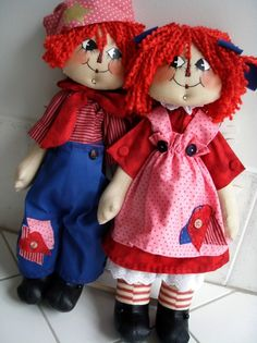 *RAGGEDY ANN & ANDY ~ I only have eyes for you!