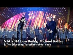 Sam Bailey & Michael Bolton Open the show at the NTAs *It's great to see Sam singing with one of her idols. He was a fan of hers while she was competing on Xfactor Uk. Sam Bailey, Michael Bolton, Choir, Singers, Give It To Me, The Incredibles, Amp, Greek Chorus, Singer