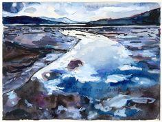 "Admire the blue-grey tones of Anselm Kiefer's watercolor, ""Heaven on Earth."" http://met.org/1FxjKTj"