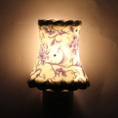 Exquisite Blue Chrysanthemum Pattern Aroma Ceramic Night Light Wall Mounted Lamp-5.31 and Free Shipping