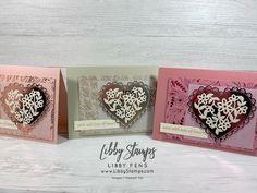 Valentine Crafts, Valentines, Valentine Greeting Cards, Specialty Paper, Flower Center, Heart Cards, Stamping Up, Creative Cards, Stampin Up Cards